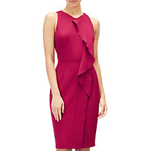 Buy Adrianna Papell Sleeveless Ruffle Sheath Dress, Geranium Online at johnlewis.com
