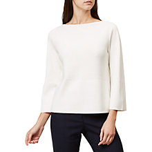 Buy Hobbs Martina Jumper, Ivory Online at johnlewis.com
