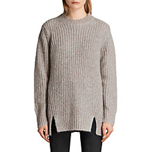 Buy AllSaints Klash Crew Neck Jumper, Grey Marl Online at johnlewis.com