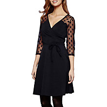 Buy Yumi Mesh Polka Dot Dress, Dark Navy Online at johnlewis.com