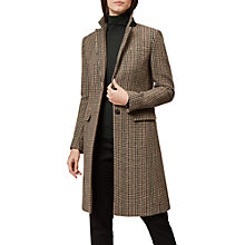 Buy Hobbs Tilda Check Coat, Multi Online at johnlewis.com