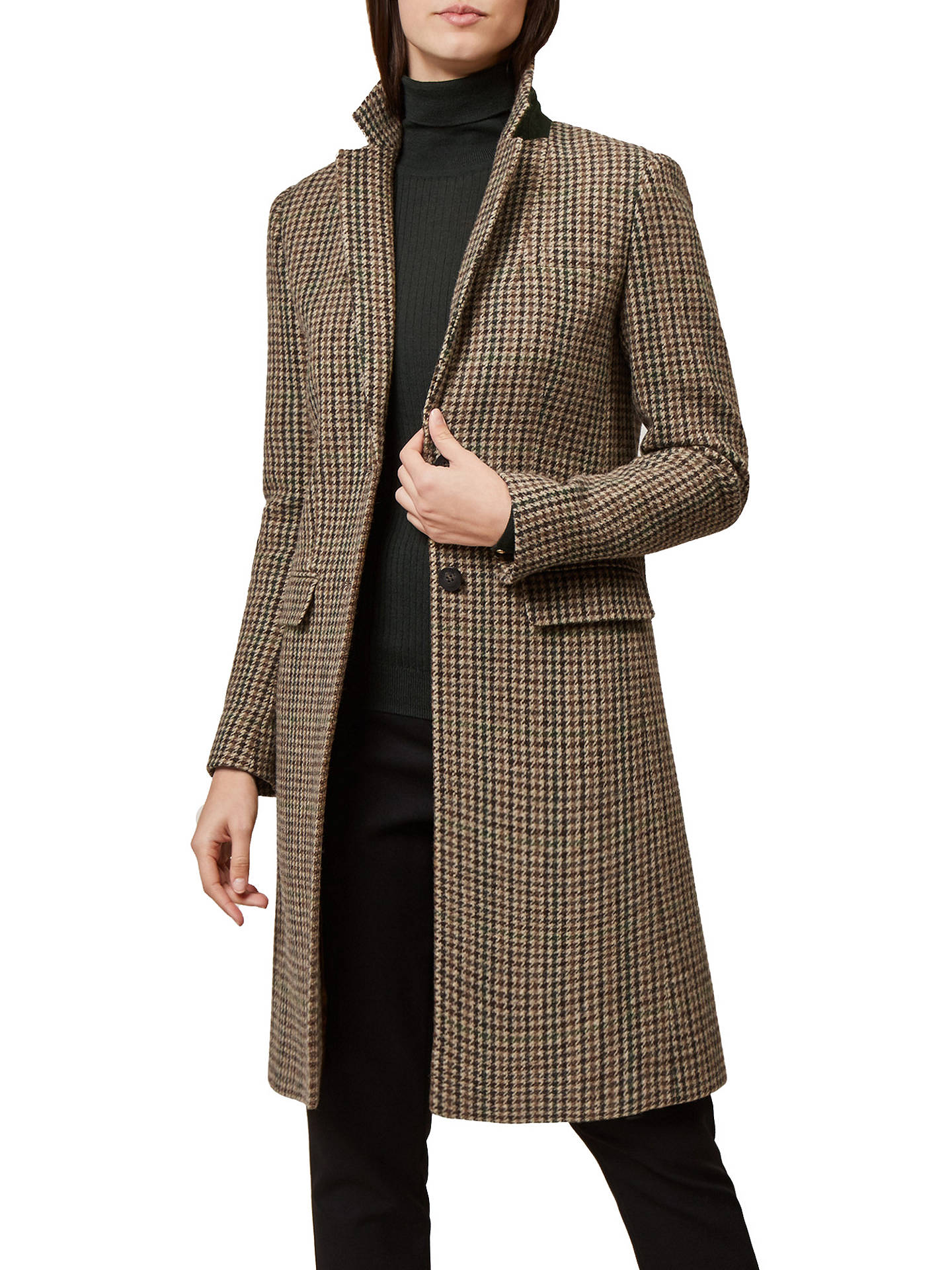 BuyHobbs Tilda Check Coat, Multi, 6 Online at johnlewis.com
