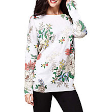 Buy Yumi Japanese Flower Oversized Jumper, Grey/Multi Online at johnlewis.com
