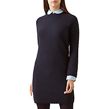 Buy Hobbs Coral Knitted Dress, Navy Chambray Online at johnlewis.com