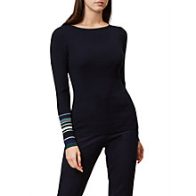 Buy Hobbs Marnie Round Neck Sweater, Navy Online at johnlewis.com