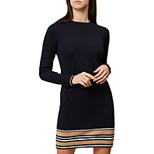 Buy Hobbs Allie Knitted Dress, Navy/Multi Online at johnlewis.com