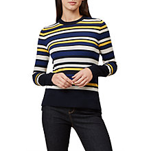 Buy Hobbs Eliza Stripe Jumper, Multi Online at johnlewis.com