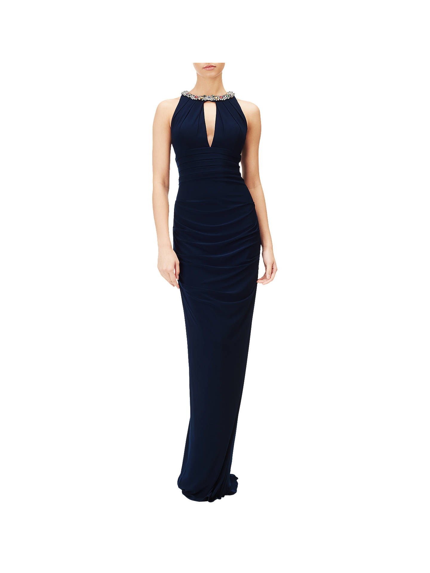 BuyAdrianna Papell Jersey Halter Gown, Midnight, 8 Online at johnlewis.com