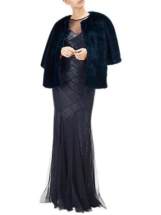 Adrianna Papell Faux Fur Wrap