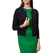 Buy Hobbs Jasmina Cardigan, Navy Online at johnlewis.com