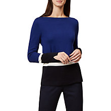 Buy Hobbs Tilly Block Stripe Sweater, Navy Online at johnlewis.com