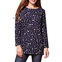 Buy Yumi Star Print Oversized Jumper, Navy Online at johnlewis.com