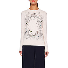 Buy Ted Baker Risolo Enchanted Dream Print Jumper, Pale Pink Online at johnlewis.com