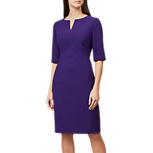 Buy Hobbs Eimear Short Sleeve Dress, Purple Online at johnlewis.com