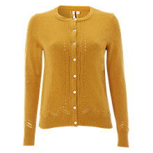 Buy White Stuff Raindrop Button Cardigan, Sugar Yellow Online at johnlewis.com