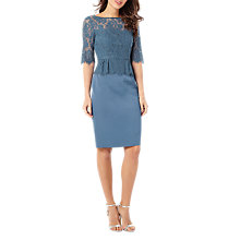 Buy Phase Eight Henriette Lace Dress, Steel Blue Online at johnlewis.com