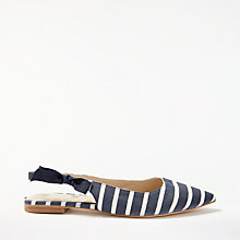 Buy Boden Hilary Slingback Pumps, Navy/Ivory Online at johnlewis.com