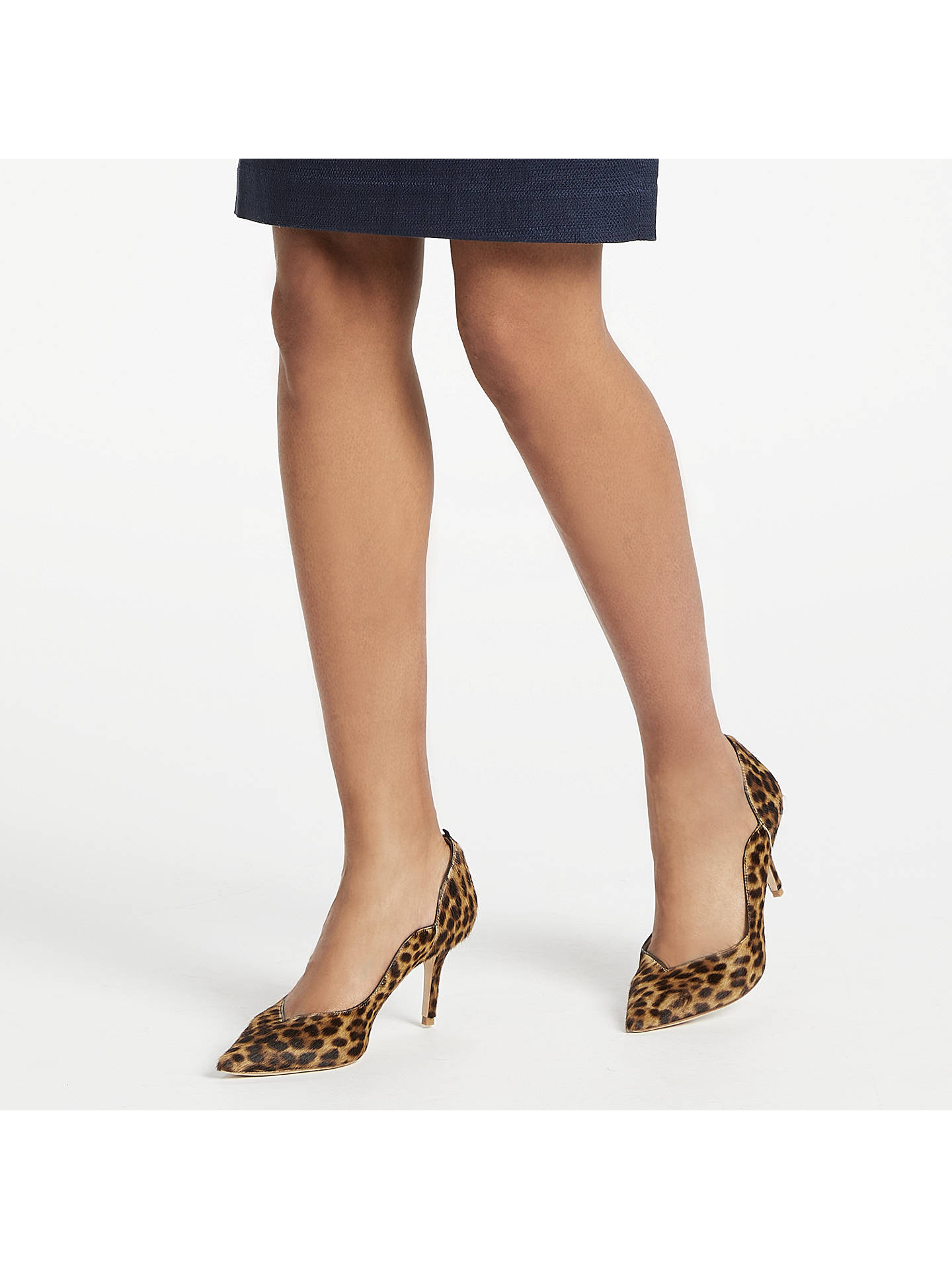 Buy Boden Madison Stiletto Heeled Court Shoes, Leopard Leather, 4 Online at johnlewis.com