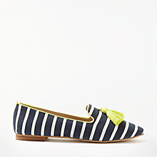 Buy Boden Rowan Tassel Loafers, Navy/Ivory Online at johnlewis.com