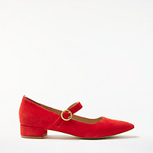 Buy Boden Rosabel Court Shoes, Red Pop Suede Online at johnlewis.com