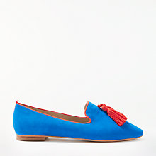 Buy Boden Rowan Tassel Loafers, Ultra Blue Suede Online at johnlewis.com