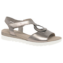 Buy Gabor Ellis Wide Fit Disc Sandals, Pewter Leather Online at johnlewis.com