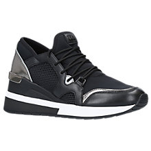 Buy MICHAEL Michael Kors Scout Lace Up Trainers, Black Online at johnlewis.com