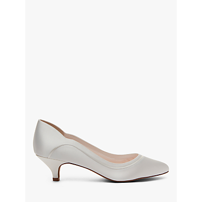 Product photo of Rainbow club hollie kitten heel court shoes ivory