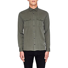 Buy Ted Baker Canz Pleated Pocket Long Sleeve Shirt Online at johnlewis.com