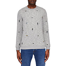 Buy Ted Baker Bearin Embroidered Sweatshirt, Grey Marl Online at johnlewis.com