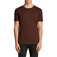 Buy AllSaints Figure Crew Neck Short Sleeve T-Shirt, Burnt Red Online at johnlewis.com