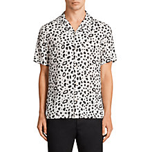 Buy AllSaints Panther Deconstructed Animal Print Shirt, Chalk White Online at johnlewis.com