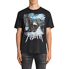 Buy AllSaints Fly Crew Neck Short Sleeve T-Shirt, Black Online at johnlewis.com