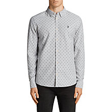 Buy AllSaints Fairfield Spot Print Long Sleeve Shirt, Grey/Black Online at johnlewis.com