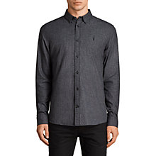 Buy AllSaints Ralston Check Long Sleeve Shirt, Black Online at johnlewis.com