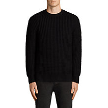 Buy AllSaints Ren Textured Cotton Jumper Online at johnlewis.com