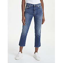 Buy 7 For All Mankind Edie High Waist Straight Jeans, Harbour Online at johnlewis.com