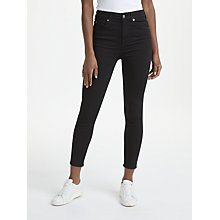 Buy 7 For All Mankind Aubrey Slim Illusion Jeans, Rinsed Black Online at johnlewis.com