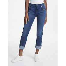 Buy 7 For All Mankind Relaxed Skinny Slim Illusion Jeans, Blue Depth Online at johnlewis.com