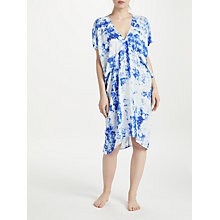 Buy John Lewis Iguazu Bias Cut Kaftan, Blue/Multi Online at johnlewis.com