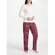 Buy Calvin Klein Logo Pyjamas With Bag, Ivory/Multi Online at johnlewis.com