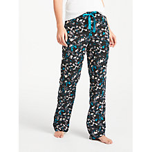 Buy Calvin Klein Phantasm Floral Print Pyjama Bottoms, Teal/Black Online at johnlewis.com