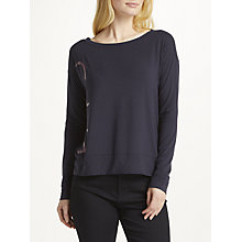 Buy Calvin Klein Long Sleeve Pyjama Top, Plum Online at johnlewis.com
