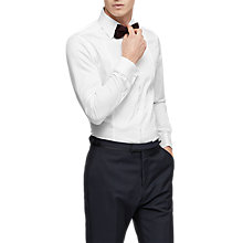 Buy Reiss Henrick Pleated Front Shirt, White Online at johnlewis.com