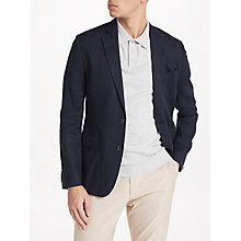 Buy J.Lindeberg Hopper Soft Technical Linen Jacket, Navy Online at johnlewis.com