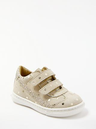timeless design 9e3f8 f9820 Clarks Children s Milly Spot Riptape Shoes, Taupe