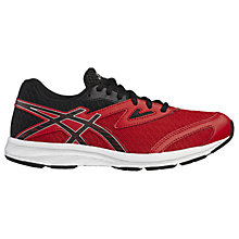 Buy Asics Children's Aplica GS Laced Trainers, Red/Black Online at johnlewis.com