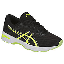 Buy Asics Children's GT 1000 6 GS Laced Trainers, Black/Yellow Online at johnlewis.com