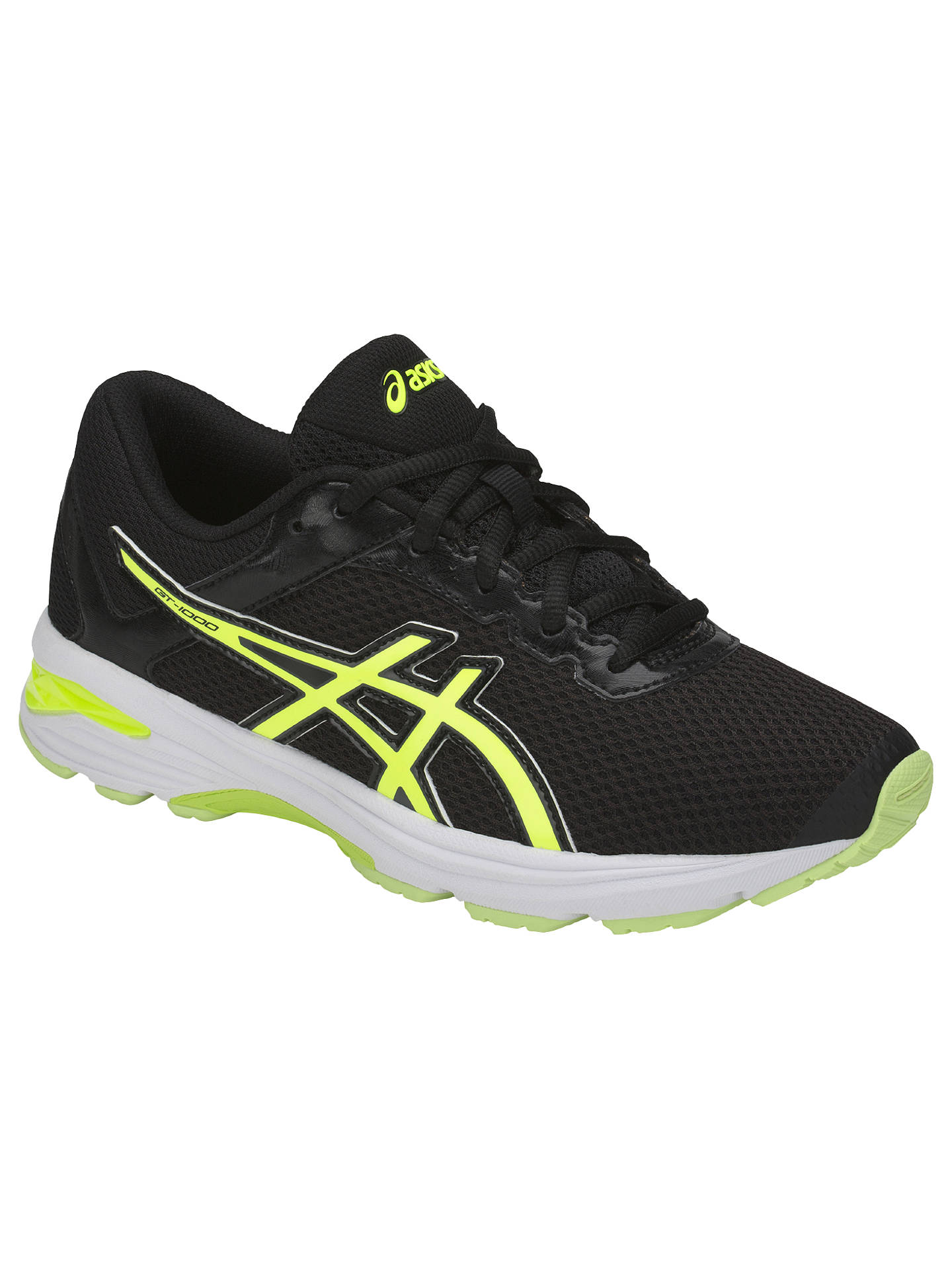 Men's Yellow Black Asics Gt 1000 6 Gs Junior Running Shoes