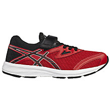 Buy Asics Children's Aplica PS Rip-Tape Trainers, Red/Black Online at johnlewis.com